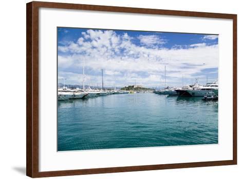 Antibes, France. Yachts in Port Vauban - 2- vvr-Framed Art Print