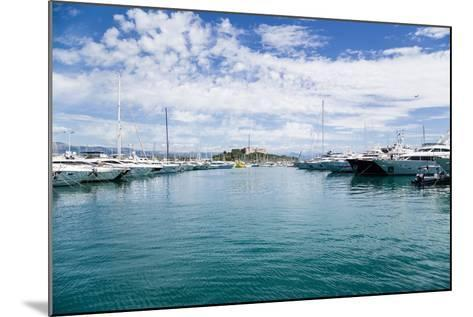 Antibes, France. Yachts in Port Vauban - 2- vvr-Mounted Photographic Print