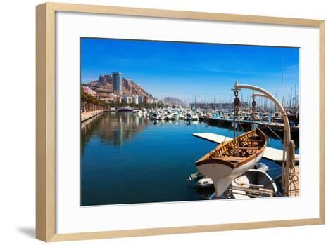 Port with Yachts in Alicante. Spain-JackF-Framed Art Print