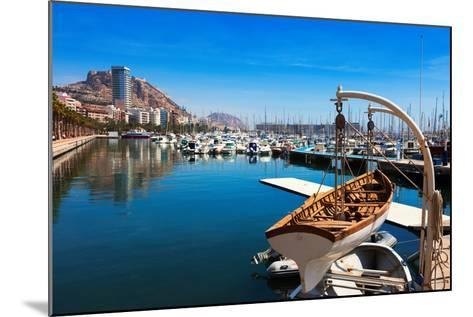 Port with Yachts in Alicante. Spain-JackF-Mounted Photographic Print