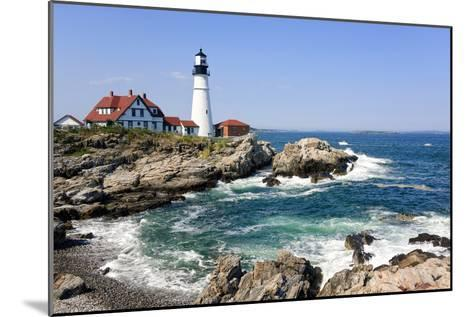 Lighthouse in Portland, Maine-LuciaP-Mounted Photographic Print