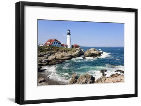 Lighthouse in Portland, Maine-LuciaP-Framed Art Print
