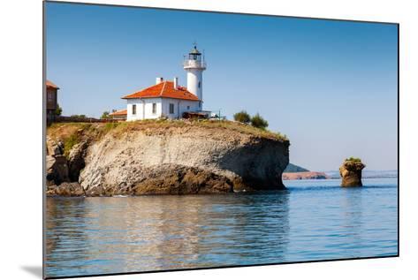 White Lighthouse Tower on St. Anastasia Island- eugenesergeev-Mounted Photographic Print