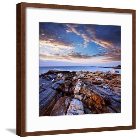 Pemaquid Point Coast, Bristol Maine-Paul Lemke-Framed Art Print