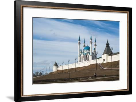 Kazan Kremlin, View of the Kul-Sharif Mosque- gospodin_mj-Framed Art Print