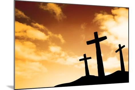 Crosses-SkyLine-Mounted Photographic Print