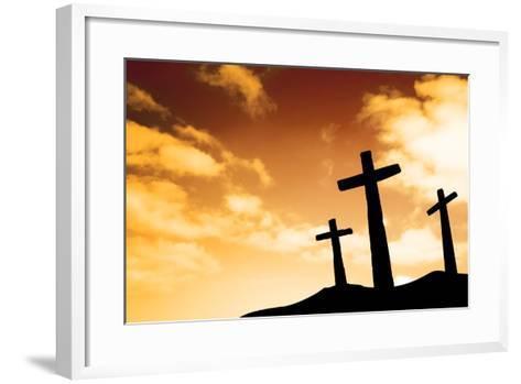 Crosses-SkyLine-Framed Art Print