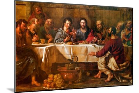 BRUSSELS - JUNE 21: Paint of Last Supper of Christ in St. Nicho-Ren?ta Sedm?kov?-Mounted Photographic Print