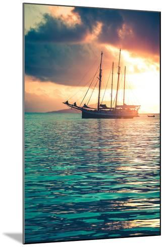 Recreational Yacht at the Indian Ocean-dvoevnore-Mounted Photographic Print