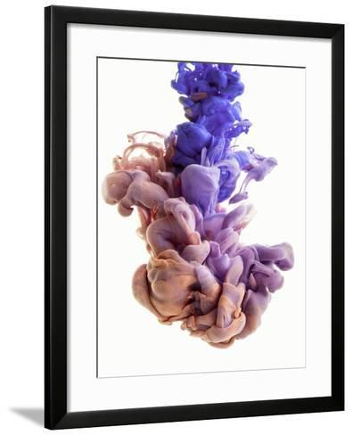 Ink Color Drop, Lily, Peach, VIOLET-sanjanjam-Framed Art Print