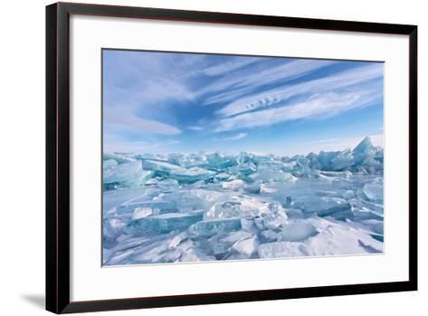 Ice Hummocks at Lake Baikal-katvic-Framed Art Print