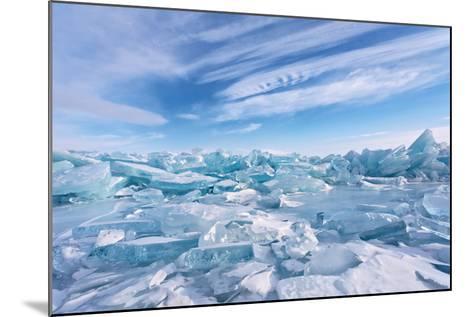 Ice Hummocks at Lake Baikal-katvic-Mounted Photographic Print