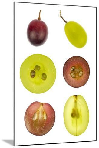 Collage of Sliced Red and Green Grapes-YellowPaul-Mounted Photographic Print
