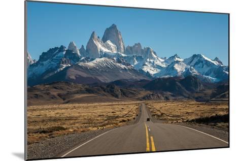 Road to El Chalten, Fitz Roy in Background-ykumsri-Mounted Photographic Print