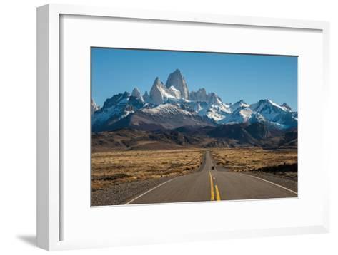 Road to El Chalten, Fitz Roy in Background-ykumsri-Framed Art Print