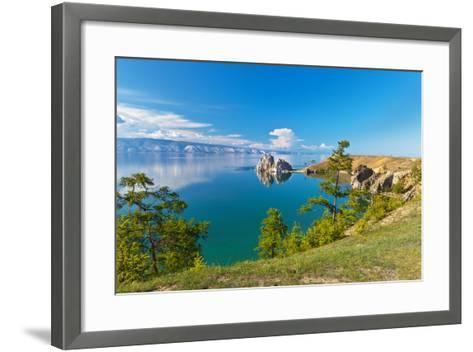 Summer on Lake Baikal. Sunny Day on Olkhon Island-katvic-Framed Art Print