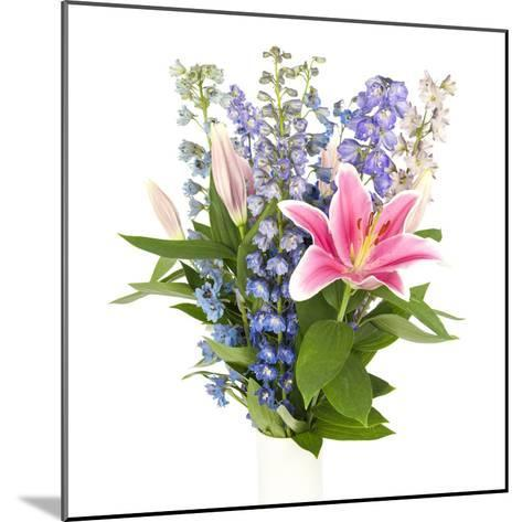 Bouquet of Flowers in Square Frame-YellowPaul-Mounted Photographic Print