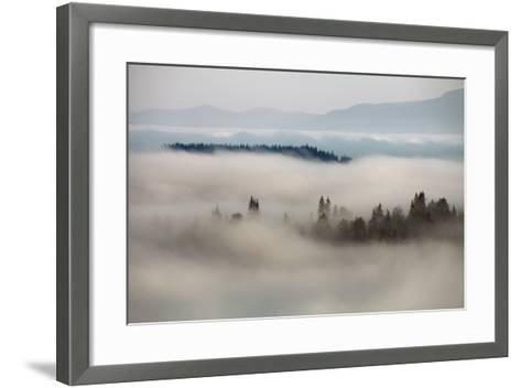 Mountain Fog- vchornyy-Framed Art Print