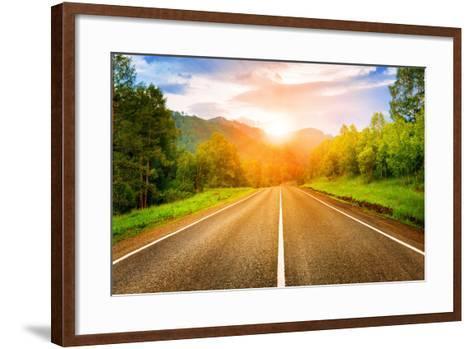 Sunny Road- tarasov_vl-Framed Art Print