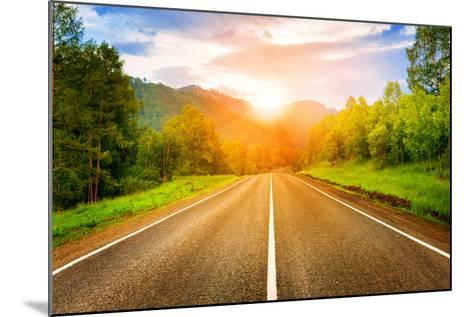 Sunny Road- tarasov_vl-Mounted Photographic Print