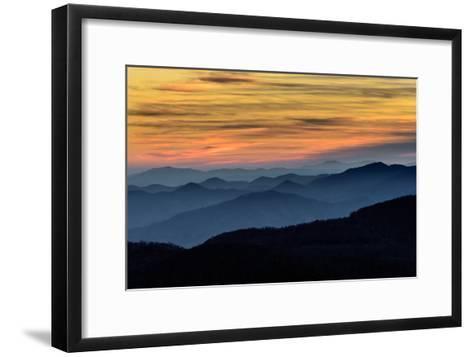 Layers of the Blue Ridge Mountains-skiserge1-Framed Art Print