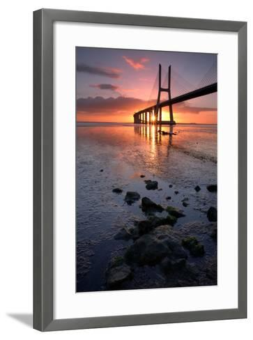 The Bridge of Stones- nmaia-Framed Art Print