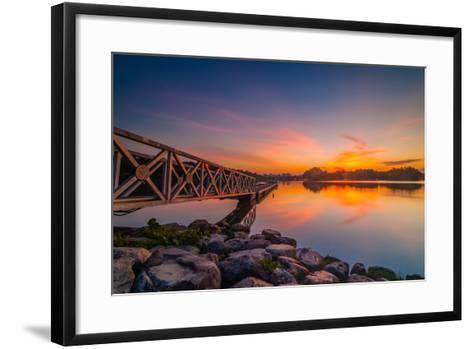 Sunset in Botanic Park- azirull-Framed Art Print