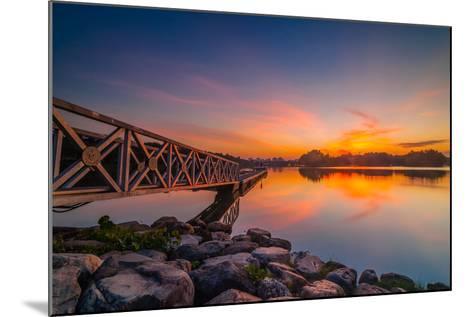 Sunset in Botanic Park- azirull-Mounted Photographic Print