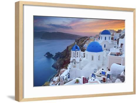 Santorini.-rudi1976-Framed Art Print