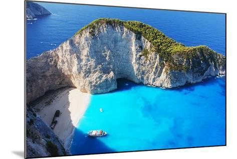 Navagio Beach in Zakynthos, Greece- milda79-Mounted Photographic Print