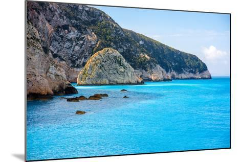 Coastline at Lefkada Island in Greece- rh2010-Mounted Photographic Print