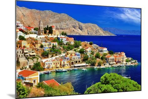 Wonderful Greece. Symi Island , Dodecanese-Freesurf-Mounted Photographic Print