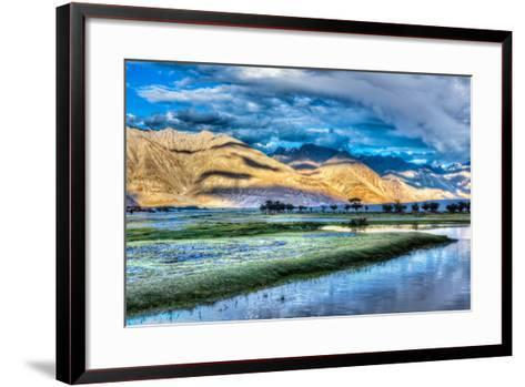 Nubra River in Nubra Valley in Himalayas-f9photos-Framed Art Print