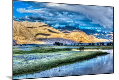 Nubra River in Nubra Valley in Himalayas-f9photos-Mounted Photographic Print