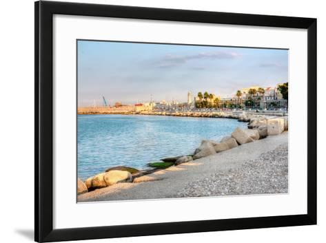 Embankment of Bari Italy Hdr-alexvav-Framed Art Print