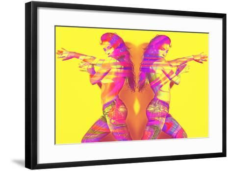 Music Girl-coka-Framed Art Print