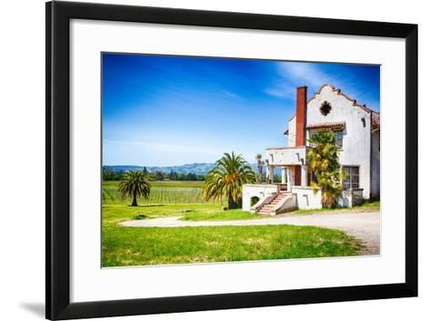 Mission Vineyard-garytog-Framed Art Print