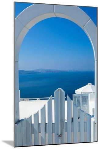 White Gate Overlooking Ocean-EvanTravels-Mounted Photographic Print