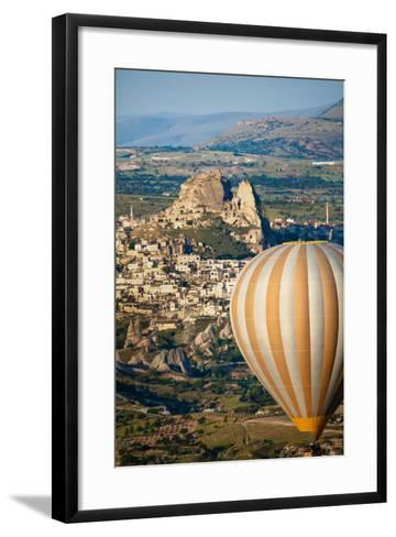 Hot Air Balloons over Cappadocia, Turkey-EvanTravels-Framed Art Print