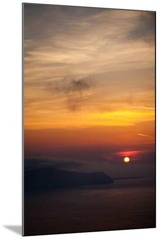 Misty Sunset over Greek Islands-EvanTravels-Mounted Photographic Print
