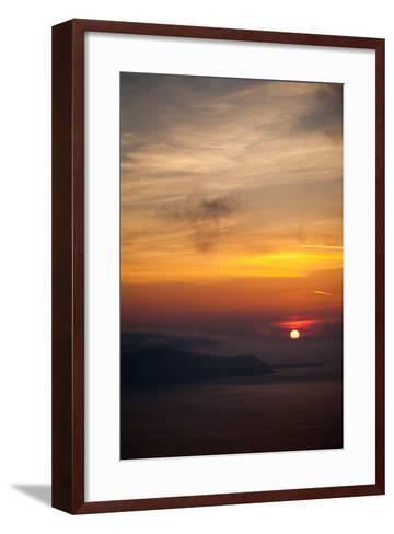 Misty Sunset over Greek Islands-EvanTravels-Framed Art Print