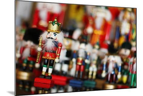 Christmas Nutcracker King in Front of Toy Soldiers-Christin Lola-Mounted Photographic Print