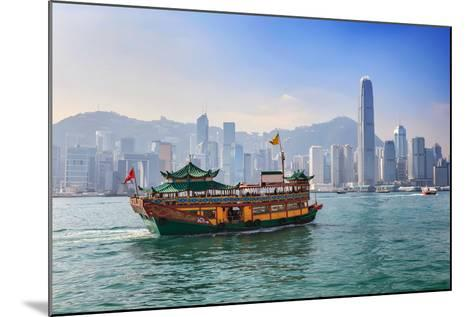 Hong Kong City Skyline View from Kowloon- Noppasinw-Mounted Photographic Print