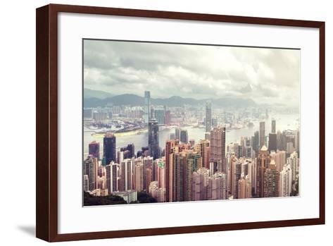 Hong Kong Island-lapas77-Framed Art Print