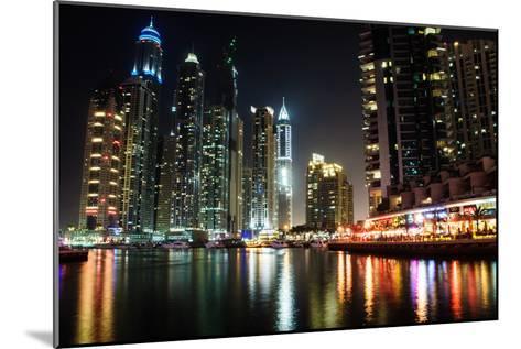 Dubai Marina at Night-michalkardos-Mounted Photographic Print
