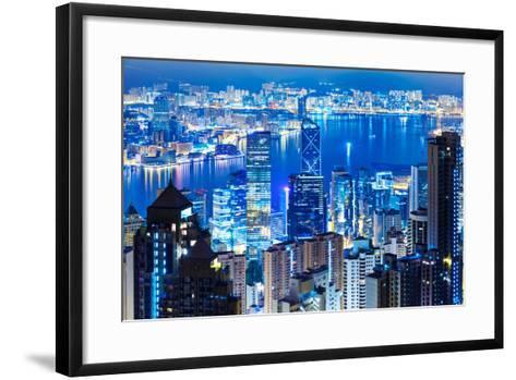 Hong Kong Landmark from the Peak-leungchopan-Framed Art Print