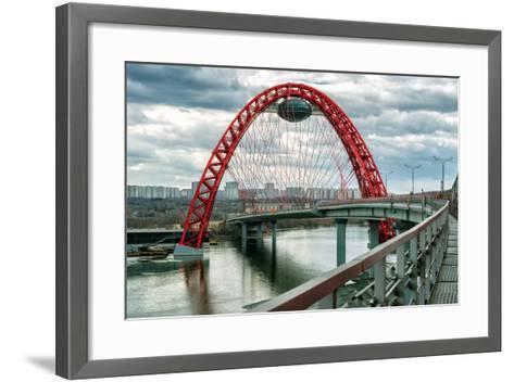 Zhivopisny Bridge over the Moskva River, Moscow-scaliger-Framed Art Print