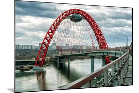 Zhivopisny Bridge over the Moskva River, Moscow-scaliger-Mounted Photographic Print