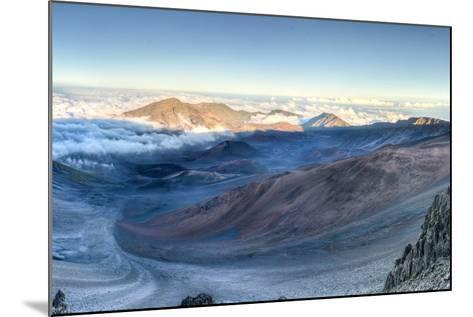 Caldera of the Haleakala Volcano (Maui, Hawaii)-demerzel21-Mounted Photographic Print