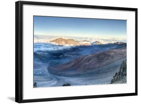 Caldera of the Haleakala Volcano (Maui, Hawaii)-demerzel21-Framed Art Print